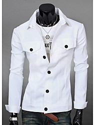 Spring And Autumn New Men'S Jacket Coat Thin Slim Young Korean Tidal Casual Cotton Jacket Lapel