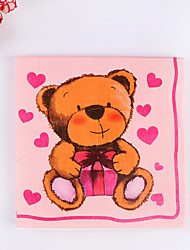 100% virgin pulp 20 pcs Cute Bear Napkins
