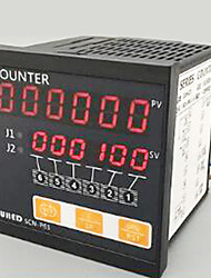 contador de trabalho, mostrador de seis scn digitais - p61