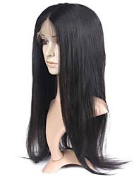 10-28 дюймов естественная прямая бразильские виргинские человеческие волосы естественный цвет полный парик шнурка с волосами младенца