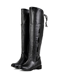 Women's Boots  Fashion Boots Leatherette Outdoor / Office & Career / Casual Low Heel Others Black / Brown / White