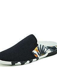 Men's Shoes Canvas Casual Slippers & Flip-Flops Casual Walking Flat Heel Split Joint Black / Blue / Red
