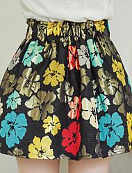 Model real shot 2017 spring Korean version of sweet princess pleated flowers tutu skirts women