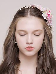 MISS DIVA  Women's Tulle Headpiece Headbands 1 Piece Blue / Pink Flower 55