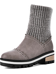 Women's Boots Snow Boots / Fashion Boots / Combat Boots / Round Toe Customized Materials / Office & Career