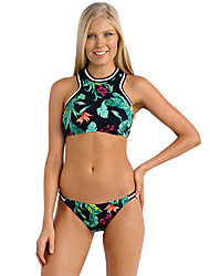 Women's Jungle Out There Sporty High Neck Swimsuit