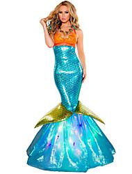 Mermaid Tail Girls Costumes Princess series Costumes Halloween / Carnival / Oktoberfest Green / Orange / Sky Blue Vintage Dress