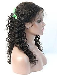 горячий продавать глубокая волна человеческих волос бесклеевой иллюзия парик шнурка передний / полный парик шнурка с большим количеством
