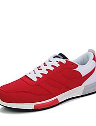Herren-Sneaker-Outddor / Büro / Lässig-Wildleder / Leder-Flacher Absatz-Komfort-Blau / Rot / Grau / Schwarz und Rot