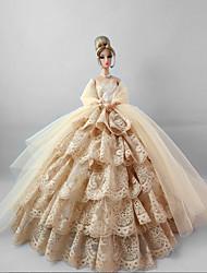 Fiesta y Noche Vestidos por Muñeca Barbie Lino Encaje Vestidos