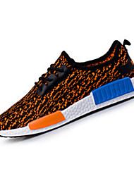 Unisexe-Décontracté-Noir / Bleu / Orange-Talon Plat-Confort-Sneakers-Tissu