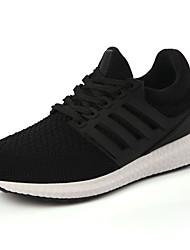 Da donna-Sneakers-Casual / Sportivo-Comoda-Plateau-Tulle-Nero / Rosa / Bianco