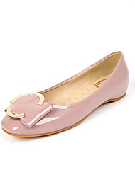 Women's Shoes Fall Round Toe / Closed Toe / Flats Clogs & Mules Dress Flat Heel Buckle Black / Pink / Almond