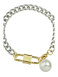Silver Chain Link Bracelet for Ladies