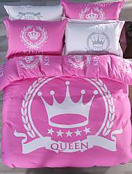 Royal Series Bedlinen 100% Cotton Bedding Sets Twin Queen King Size Pink Queen