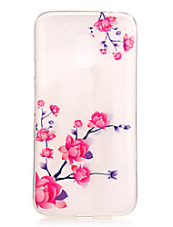 Flower Pattern TPU Relief Back Cover Case for Moto G4 Play