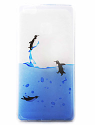 Penguins Swimming Pattern Material TPU Phone Case for Huawei P9 P8 Lite P9 Lite