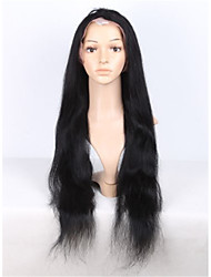 8-28 Inch Brazilian Virgin Hair Jet Black Color Human Hair Wigs Straight Full Lace Wigs for Black Women