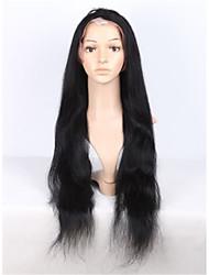 8-28 polegadas brasileiros cabelo virgem jato de cor preta perucas de cabelo humano perucas cheias do laço em linha reta para as mulheres