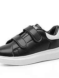 Girl's / Boy's Sneakers Spring / Fall Comfort PU Casual Flat Heel Magic Tape Black / Red / Black and White