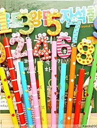 канцелярские милый мультфильм деревянный карандаш деревянный карандаш (10шт)