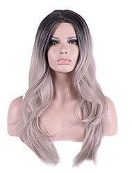 Manufacturers Wholesale Spot Hot Style in Europe and America Grandma Ashes Points Rgradient Chemical Fiber Wig Caps