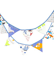 3.2m 12 Flags Cartoon Banner Pennant  cotton Bunting Banner Booth Props Photobooth Birthday Wedding Party Decoration