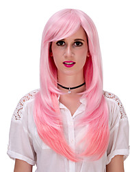 Pink gradient long hair wig.WIG LOLITA, Halloween Wig, color wig, fashion wig, natural wig, COSPLAY wig.