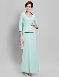 Lanting Bride Ball Gown Mother of the Bride Dress Floor-length Chiffon with Beading / Lace