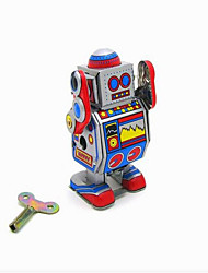 Novelty Toy  Puzzle Toy  Educational Toy  Wind-up Toy Puzzle Toy  Warrior  Robot Metal Blue  Khaki For Kids