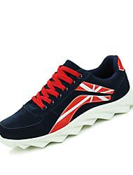 Da uomo-Sneakers-Casual-Comoda-Piatto-Tessuto-Blu / Nero e oro / Nero e bianco