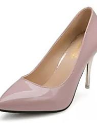 Femme Chaussures à Talons Cuir Verni Automne Décontracté Talon Aiguille Blanc Noir Rouge Rose 10 à 12 cm
