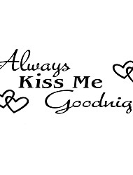 Fashion The Always Kiss Pattern PVC Bathroom or Bedroom or Glass Wall Sticker Home Decor