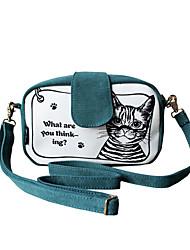 Flower Princess® Women Canvas Shoulder Bag Green-1404X00103