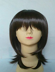 Brown Short Wig Women's Cute Straight Bob Cosplay Wig Heat Resistant Full Hair Wig
