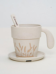 The New Health Creative Cup Coffee Cup With A Spoon With The Environmental Protection