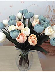 1 1 Ramo Plástico Tulipas Flor de Mesa Flores artificiais 18.5inch/47cm