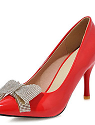 Women's Shoes Stiletto Heel Pointed Toe Bowknot Rhinestones Pump More Color Available