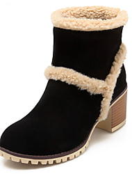 Women's Boots Fall / Winter Snow Boots / Fashion Boots / Round Toe Office & Career / Dress / Casual Chunky Heel Fur