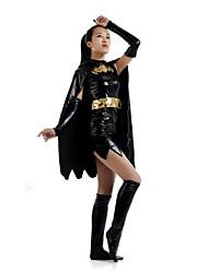 Costumes zentai Superhéros / Forme Chauve-Souris Costume Zentai Costumes de Cosplay Noir Mosaïque Collant/Combinaison / Costume Zentai