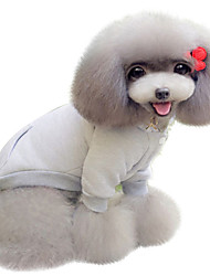 Hunde Pullover Grau Hundekleidung Winter Frühling/Herbst einfarbig Lässig/Alltäglich