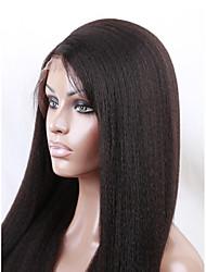 evawigs 18-26 Zoll brasilianische menschliche reine Haarperücke grob afro verworrene gerade volle Spitzeperücke für Mode Frauen