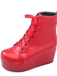 Women's Boots Fall / Winter Wedges / Fashion Boots / Round Toe Office & Career / Dress / Casual Platform Lace-up