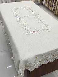Carré Solide Nappes de table , Mélange Lin/Coton Matériel Déco d'Intérieur