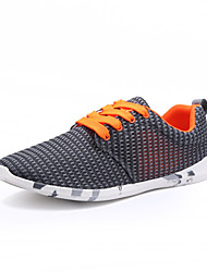 Men's Sneakers Spring / Fall Comfort Fabric Casual Flat Heel Gray / Dark Green / Light Green Walking