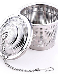 304 Stainless Steel Practical Tea Ball Strainer Mesh Infuser Filter  Herbal
