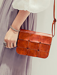 Women PU Casual Vintage  Outdoor Squares Stitching Suture Shopping Purse Shoulder Bag