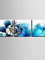 Холст Set Цветочные мотивы/ботанический Европейский стиль,3 панели Холст Квадратная Печать Искусство Декор стены For Украшение дома