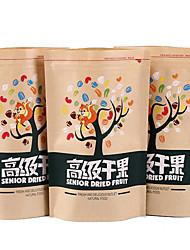kraft toit ouvrant ouvert auto-proclamé l'indépendance casse-croûte de noix sachets de thé d'un pack de dix impression des modèles