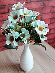 1pc 1 Une succursale Polyester / Plastique Cerisier du Japon Fleur de Table Fleurs artificielles 9.8inch/25CM